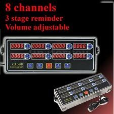 8 Channel Digital Timer CAL-8B Burger Basket Shaking Timing 3 Stage Reminder