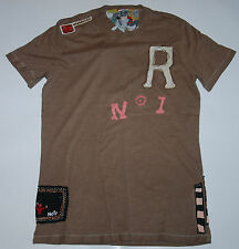 VINTAGE WE ARE REPLAY JEANS WOMENS HAND CRAFTED TOP SHIRT UNION JACK LINEN L