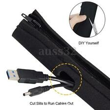 """4 Flexible Zip Cable Cord Power Wire Management Organizer Wrap Cover Hider 19.7"""""""