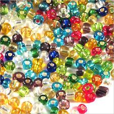 Lot Mix 1000 Perles de Rocailles en verre Trou Argenté 4mm 100g