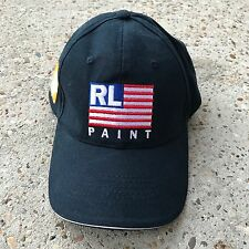 Polo Ralph Lauren RL USA American Flag Paint Home Depot Blue Adjustable Hat