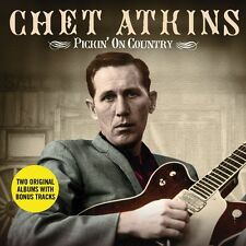 2 CD BOX CHET ATKINS PICKIN' ON COUNTRY IN THREE DIMENSIONS FINGURE STYLE GUITAR