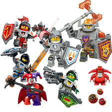 6 Nexo Knights Mini Figures Clay,Axl,Jestro & Lance & lego weapon city,marvel