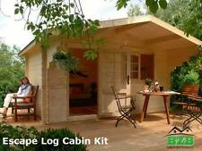 "BZB Escape Log Cabin Kit, 12'x9',Inside: 113 SQF, 1-3/4"" Logs, Free Shipping !"