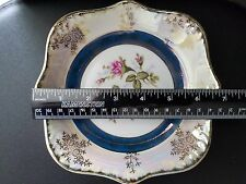 Vintage JAPAN Lusterware  Gold Trim with Flowers Candy dish