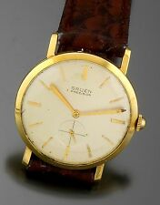 Classic Solid 14K Yellow Gold Gruen Precision Watch CA1940 17 Jewel Hand Wind