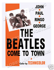 THE BEATLES COME TO TOWN LOBBY CARD POSTER OS 1964