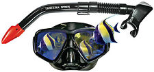 Land and Sea Black Mirror Mask and Snorkel BRAND NEW