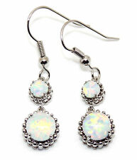Silver Fire Opal 5.52ct Drop Earring (925)