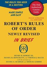 Robert`s Rules of Order Newly Revised In Brief, 2nd edition (Roberts Rules of Or