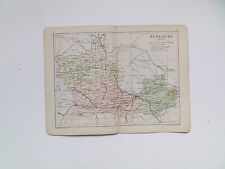 BERKSHIRE  MAP WITH RAILWAYS-PHILIPS-ANTIQUE DATE 1890 - 7inx 9in