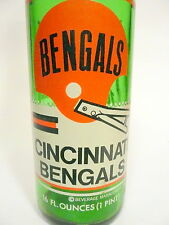 vintage ACL Soda Bottle: 7-UP salutes CINCINNATE BENGALS  -16 oz VINTAGE ACL