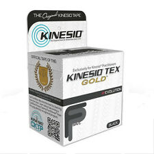 "Kinesio® Tex Gold™ FP Wave Tape (TWO) Rolls 2"" x 16.4' -  Black - NEW!!"