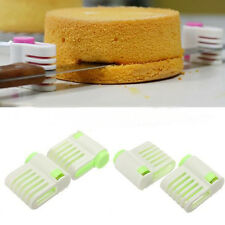 2Pcs Adjustable Cake Layer Leveller Slicer Bread Cutter Fixator Cut Guide Tool