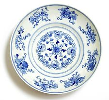 Chinese Qianlong Blue and White Dish.  Qing Dynasty