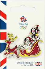 "RIO 2016 OLYMPICS TEAM GB PIN BADGE ""PRIDE CHRISTMAS SLEIGH"" LONDON 2012"