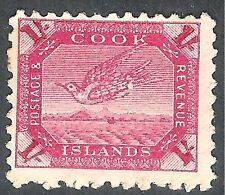 Cook Islands 1896 deep-carmine 1/-  perf 11 mint SG20a