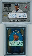 (2) 2003 CL PORTRAITS #/220 & 2005 DIAMOND KINGS 28/50 MILTON BRADLEY AUTO LOT