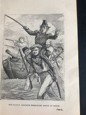 H6-1 Ephemera Book Plate 1900 Tom Bashan Carrying Commodore Douce On Shore