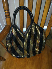 Ipa Nima Black & Gold Sequin Handbag FREE SHIP