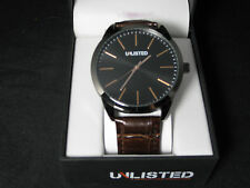 Unlisted Kenneth Cole Men's Analog Brown Leather Band Watch UL7784