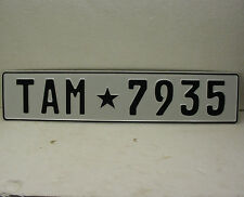 TEXAS audi bmw european style front license plate YouR TEXT custom made vw mk5