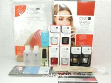 CND Shellac Starter INTRO PACK Kit 4 Colors, Base Top Coat Original Wraps..