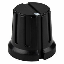 "Small Phenolic Guitar / Amplifier Knob 0.61"" - Black"
