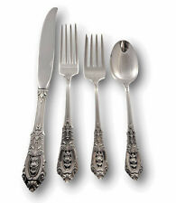 Rose Point by Wallace Sterling Silver Flatware Set for 4 Service 16 pieces
