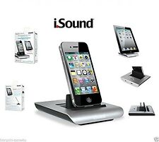 ISOUND POWER vista S la Ricarica e visualizzare DOCK PER IPHONE IPAD IPOD 2 PORTE USB