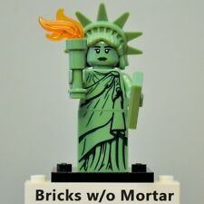 New Genuine LEGO Lady Liberty Minifig with Flame Series 6 8827