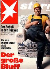 Magazin STERN Nr 29 v 1972, Brigitte Bardot; Mode-Putzfrauenlook; Schlagermacher