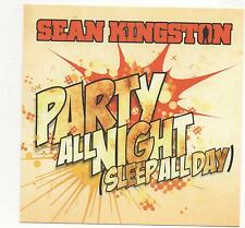 Sean Kingston Party All Night 2010 Limited Edition Promo 4 Track Remixes CD