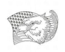 1143:  Machine Embroidery Designs -Patriotic/Military (Redwork)