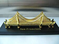 GOLDEN GATE BRIDGE Metal Souvenir Building SAN FRANCISCO Gold