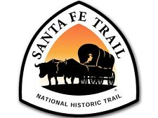 4x4 inch Santa Fe Trail National Scenic Sign Shaped Sticker - decal hike hiking