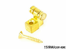 *NEW Roller String Tree Retainer & Screw for Electric Guitar Strat Tele Gold