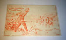 Antique Victorian American Frank Miller's Advertising! Police & Kids! Trade Card