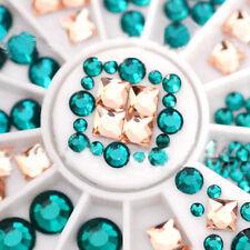 3D Bijoux ongles strass à facettes cristal déco nail art tip manucure