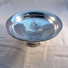 Reed & Barton Sterling Weighted Engraved Small Compote