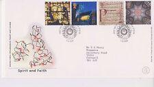 GB Royal mail FDC PRIMO GIORNO DI COPERTURA 2000 Spirito & Faith TIMBRO scendere Patrick PMK