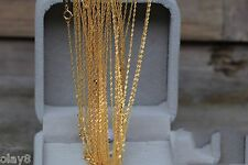 "Pure Amazing 18K Yellow Gold Necklace Lucky Singapore Chain Au750 17.7"" L J.Olay"