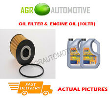DIESEL OIL FILTER + LL 5W30 ENGINE OIL FOR BMW 530D 3.0 184 BHP 1998-00