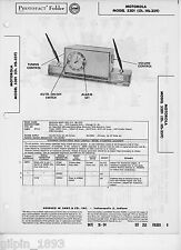Motorola Model 53D1 (Ch. HS-359) AM Receiver PhotoFact Technical Manual