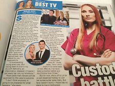 Holby City ROSIE MARCEL PHOTO interview 2014 Letitia Dean Matthew Wolfenden