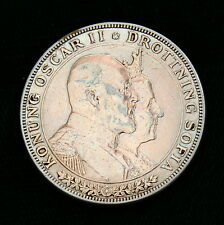New listing Sweden 1907 Silver 2 Kronor ~ Commemorating Golden Wedding Anniversary Beautiful