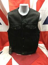 Xelement Black Denim Vest With Gun Pockets and Liner Size Small