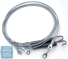 1971 GM B Body Convertible OEM Top Hold Down Cables With Springs - Pair