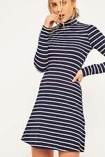 Urban Outfitters BDG Striped Turtleneck Dress - Navy - XS - RRP £32 - New