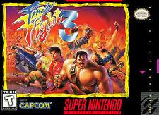 Framed Super Nintendo Game Print – Final Fight 3 (CAPCOM Gaming Arcade Classic)